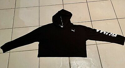 AU28 • Buy Puma Cropped Hoodie 60% Cotton 40% Modal Lightweight Size S - Includes Postage