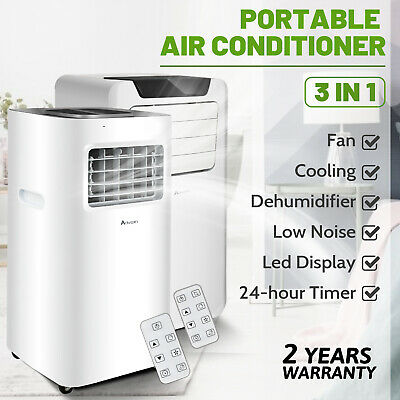AU349.90 • Buy 3in1Portable Air Conditioner Cooler Mobile Cooling Dehumidifier Exhaust Hose Fan