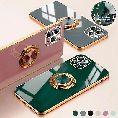 AU11.99 • Buy For IPhone 13 12 Pro Max Mini 11 XS/X XR 7 8 Plus Luxury Plating Ring Case Cover