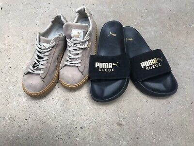 AU34.99 • Buy Puma Suede Sneakers By Rihanna And Puma Suede Slides Women's Size 8 Both