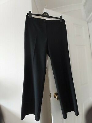 £9.99 • Buy Marks & Spencer Womens Trousers M&S Collection Straight Leg Trousers Black UK 14