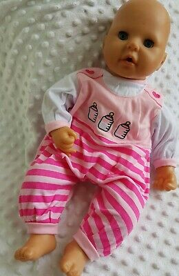 £6.99 • Buy Brand New Pink Bottle Sleepsuit For 17-19 Inch Dolls/Baby Annabell/Luvabella