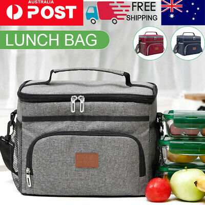 AU21.09 • Buy  Outdoor Portable 15L Lunch Bag Thermal Insulated Food Container Cooler Bag
