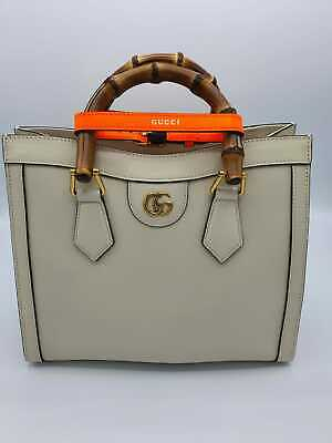 AU1011.47 • Buy Gucci Diana Small Tote Bag White Leather With Purchase Receipt