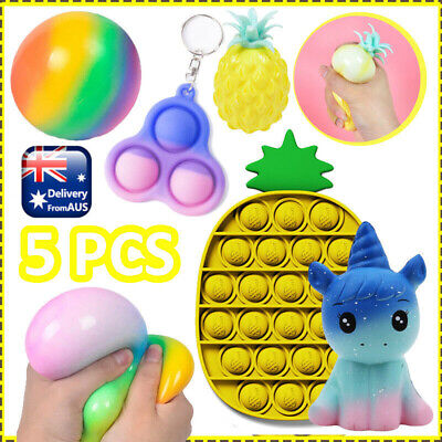 AU15.38 • Buy 5x Sensory Pineapple Fidget Toys Set Stress Relief Simple Dimple ADHD Game Gifts