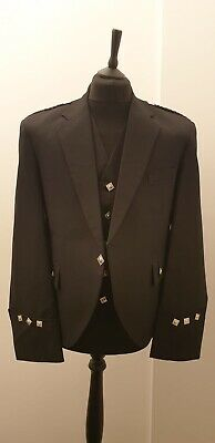 £54.99 • Buy Gents Argyle UK48 Jacket And Waistcoat Black Available .Also Available In Bulk