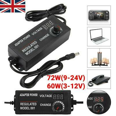 £10.68 • Buy AC/DC 3V-24V Electrical Power Supply Adapter Charger Variable Voltage Adjustable