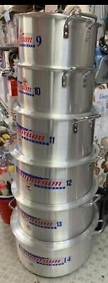 £260 • Buy 6 Pieces Catering Sizes Metal High Fineshing Aluminim Cooking Pot Set