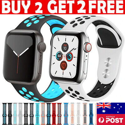 AU11.99 • Buy For Apple Watch Strap Sport Band Silicone IWatch Series 6 SE 5 4 3 40/38/44/42mm