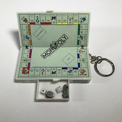 $9.90 • Buy 1998 Monopoly Miniature Key Chain With 2 Game Pieces 2 Dice Hasbro