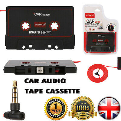 £3.99 • Buy Car Tape Cassette Adapter 3.5mm For IPhone IPod MP3 CD AUX Audio Converter W/Mic