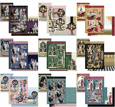 £1.99 • Buy Hunkydory The Golden Age Of Glamour Deco Large & Decoupage Card Kit P&P Discount