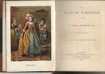 £4.99 • Buy Antique Book The Vicar Of Wakefield By Oliver Goldsmith Illustrated 1867 Leather