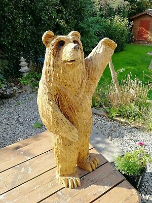 £175 • Buy Chainsaw Carved Grizzly Bear, Garden Sculpture