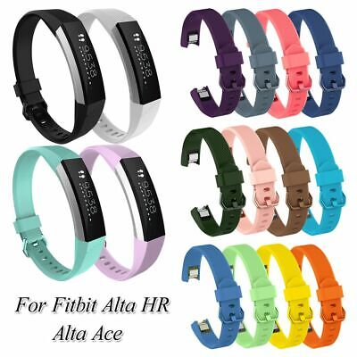 AU2.78 • Buy Silicone Wrist Strap Replacement Bands Watch Band Soft For Fitbit Alta HR Ace