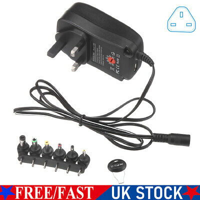 £8.99 • Buy Universal 3 - 12V Adjustable Voltage Adaptor Charger AC/DC Power Supply Adapter