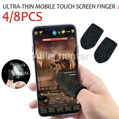 AU7.95 • Buy 4/8x Mobile Finger Sleeve Touch Screen Game Controller Sweatproof Gloves OZ