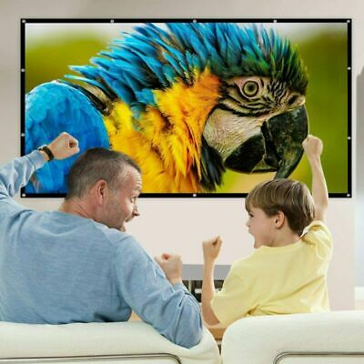 AU18.50 • Buy 4K 120'' Foldable Projector Screen Portable Outdoor Home Cinema Matte White
