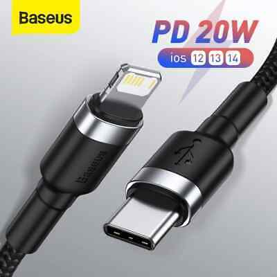 AU8.59 • Buy Baseus PD 20W USB C Cable For IPhone 13 12 11 Pro Max Fast Charging Data Cord