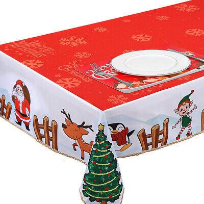 AU20.99 • Buy Christmas Tablecloth Table Cover Cloth Xmas Party Dining Room Kitchen Home Decor