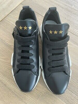 AU50 • Buy DOF Department Of Finery Zara Sneakers Size 38 Black With Gold Embellishment