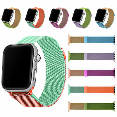 AU9.87 • Buy For Apple Watch 6/5/4/3/2/1/SE 38-44 Mm Gradient Milanese Loop Band IWatch Strap