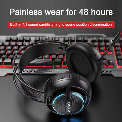 AU51.64 • Buy Gaming Headset Lenovo G30 7.1 Stereo Over-Ear Headphone W/Mic Computer Laptop PC