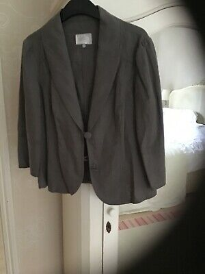 £12 • Buy Per Una M&S Fitted Linen Jacket Three Quarter Sleeves Size 12 New Without Tags