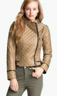 £80 • Buy Barbour  Gold Label  Alice Temperley Gold And Leather  Jacket  Coat Uk 08