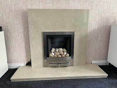 £50 • Buy Nacarado Marble Fireplace Back Panel And Hearth (fire Not Included).