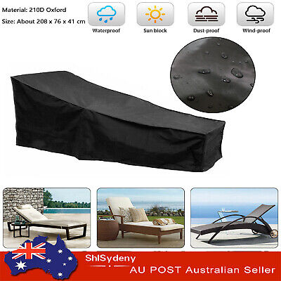 AU26.39 • Buy Waterproof Sun Lounge Chair Dust Oxford Outdoor Garden Patio Furniture Cover