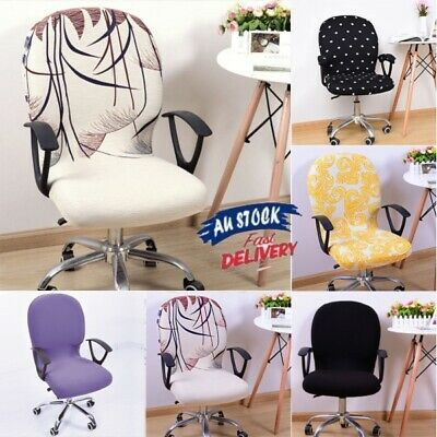 AU12.35 • Buy Stretchable Swivel Chair Cover Removable Washable Computer Office Seat Slipcover