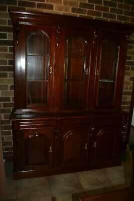 AU1950 • Buy Mahogany Bookcase With Bevelled Glass. In Excellent Condition.