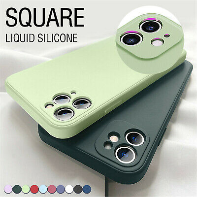 AU9.85 • Buy Square Liquid Silicone Case Soft Cover For IPhone 13 Pro Max 12 11 XS X XR 87+SE