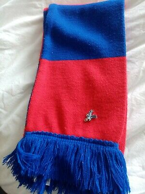 £1.50 • Buy Royal Blue & Red  Scarf With Crystal Palace Pin Badge