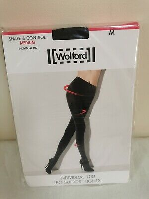 £9.50 • Buy NEW - Wolford - Shape & Control Tights - Black - Size M