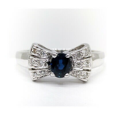 AU136.48 • Buy Jewelry Ring  Bow Sapphire White Gold 1815410