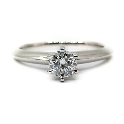 AU360.53 • Buy Tiffany And Co. Ring  Classic Solitaire Diamond 0.31ct Platinum 1815325