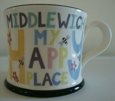 £10.99 • Buy Moorland Pottery Mug Middlewich My Happy Place