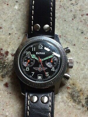 £33 • Buy Russian Military Style Mechanical Chronograph Poljot Watch Needs Some Attention