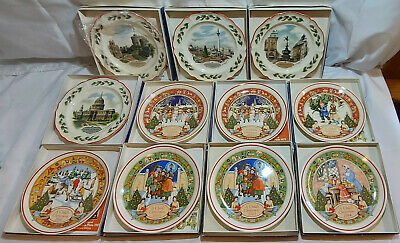 £24.99 • Buy Wedgwood Plates Set Queens Ware And Childrens Christmas 1979 To 1984