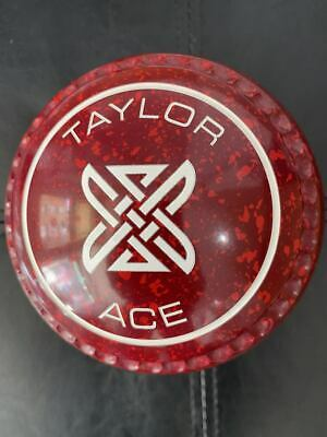 £299 • Buy NEW Taylor Ace Lawn Bowls - Size 3 - Maroon/Red - Xtreme Grip