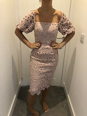 £45 • Buy Bnwt Lipsy Puff Sleeve Square Neck Crochet Lace Midi Dress Current Stock Size 18