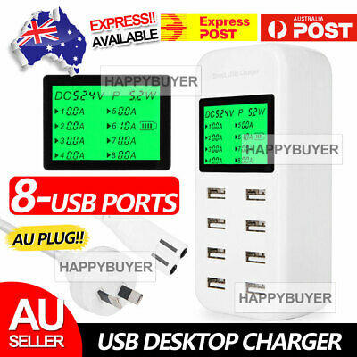 AU27.95 • Buy USB Hub Charging Station 8 Port Phone Charger Multi Dock Charger Power Adapter Z
