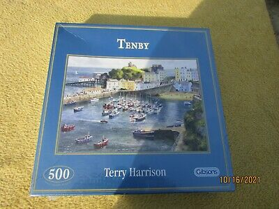 £9.50 • Buy Gibsons 500 Piece Jigsaw  Tenby  By Terry Harrison  Brand New And Sealed