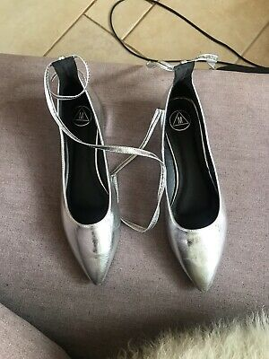 £10 • Buy Misguided Silver Shoes