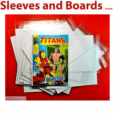 £12 • Buy Titans Marvel Pocket Book Size1 Comic Bags. Crystal Clear Sleeves Only X 25 NEW