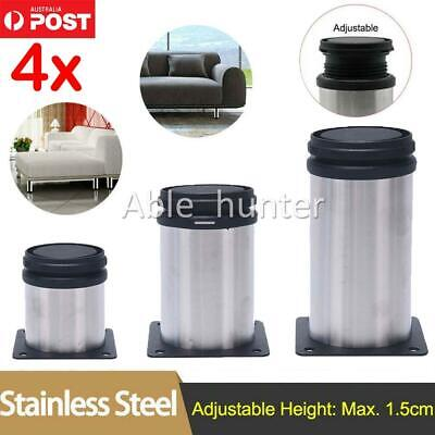 AU16.10 • Buy 4x/set Adjustable Furniture Legs Stainless Steel Leg Feet For Cabinet Sofa Bed
