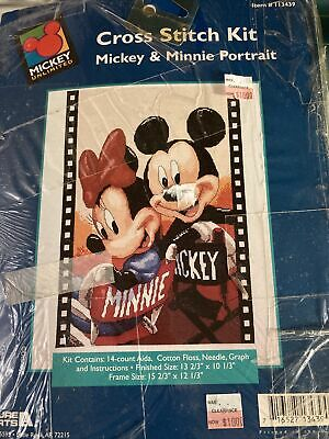 £7.28 • Buy Disney Mickey And Minnie Mouse Cross Stitch Kit Movie Director Chairs Film Frame