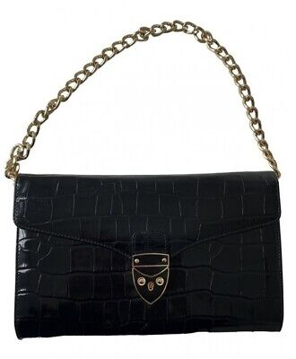 £105 • Buy Aspinal Of London Small Black Clutch Bag With Cover